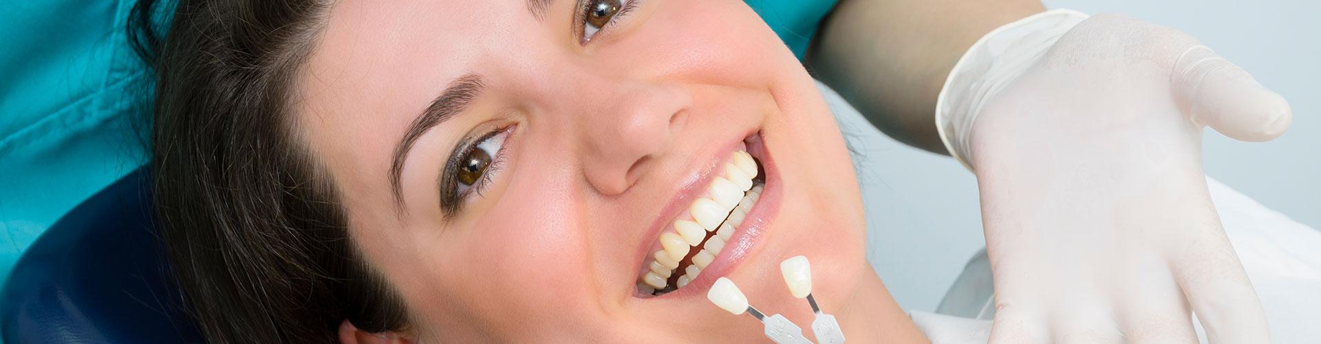 Woman smiling at the dental