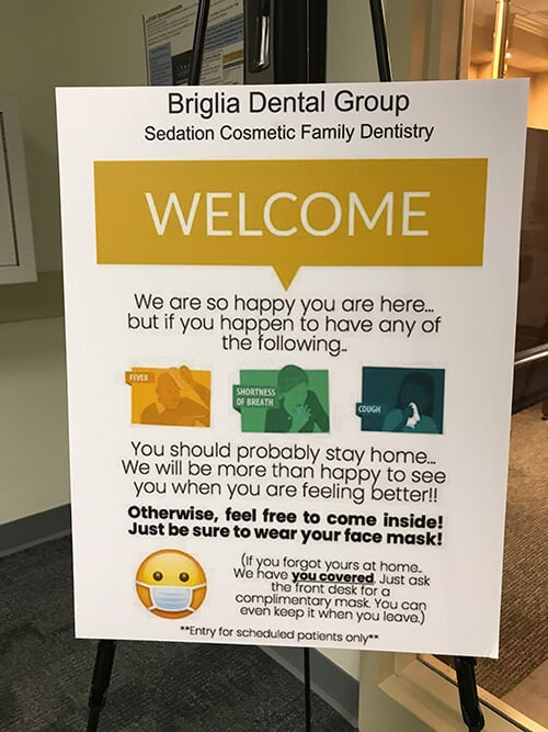Brigila Dental Group safety measures notice